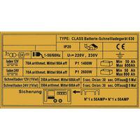 WilTec Chargeur de Batterie Moto Voiture Auto Rapide Batteries 12V et 24V Class Boost 630