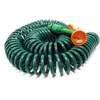 Tuyau d'arrosage en spirale Extensible 15m Flexible de jardin pour Maison et Jardin Multijets