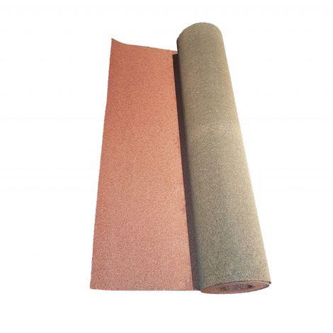Rouleau de bardeau bitumé shingle 10 x 1 m - Coloris - Rouge, Largeur - 1 m, Longueur - 10 m