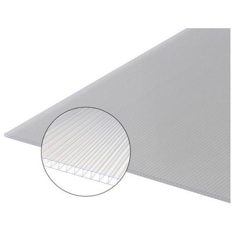 Plaque polycarbonate alvéolaire 10mm - Coloris - Translucide, Largeur - 61,4 cm, Longueur - 0,97 m