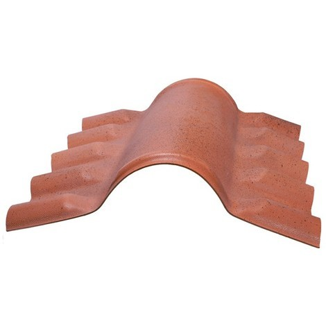 Faîtière PVC pour toiture imitation tuile moderne - Coloris - Antique, Epaisseur - 15cm, Largeur - 43 cm, Longueur - 74 cm