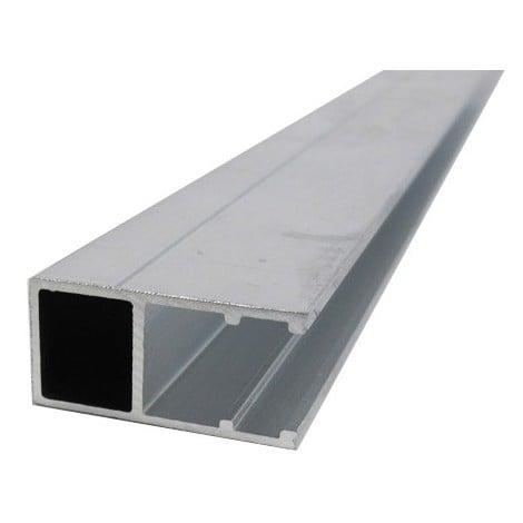 """main image of """"Profil bordure monobloc (en U) - toiture polycarbonate - Coloris - Aluminium, Epaisseur - 16 mm, Longueur - 4 m"""""""
