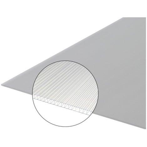 Plaque polycarbonate alvéolaire 4mm - Coloris - Translucide, Largeur - 105 cm, Longueur - 2 m