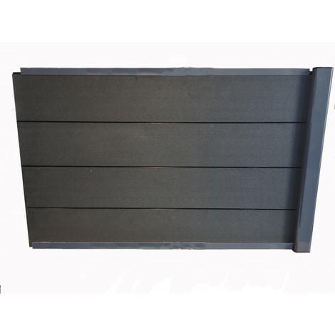kit extension complet pour clôture composite 1,50 ML x 1,80 H (3 coloris) - Coloris - Gris anthracite, Hauteur - 180 cm, Longueur - 150 cm