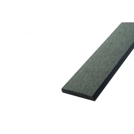 Bardage ajouré bois composite - Coloris - Gris anthracite, Epaisseur - 1cm, Largeur - 7.5 cm, Longueur - 270 cm, Surface couverte en m² - 0.2