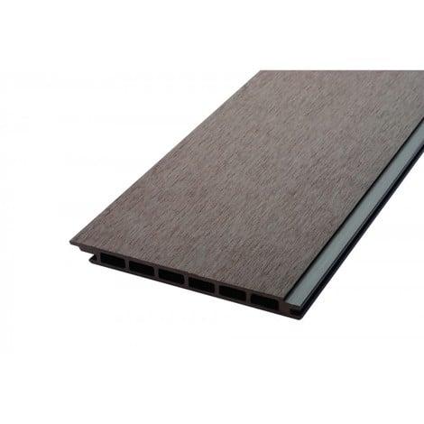 Lame de bardage bois composite alvéolaire L 270 cm / l 17,1 cm / E 1, 5 cm - Coloris - Chocolat, Epaisseur - 1.5cm, Largeur - 17.1 cm, Longueur - 270 cm, Surface couverte en m² - 0.461