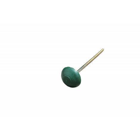 Pointe pour plaque bitumée (x100) L 6,5 cm - Coloris - Vert, Longueur - 6.5 cm