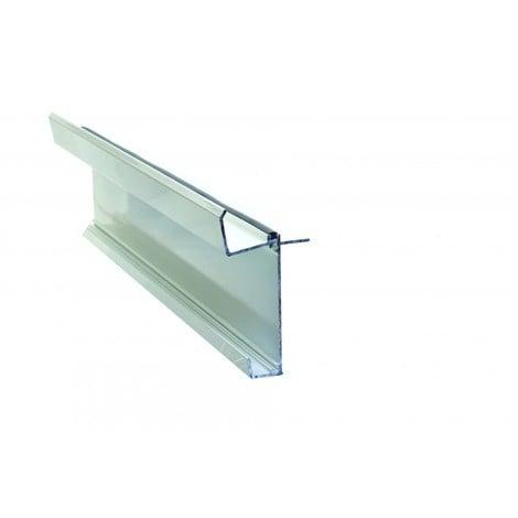 Kit faîtage inférieur pour couverture en polycarbonate L 4 m - Coloris - Blanc RAL 9010, Longueur - 4 m