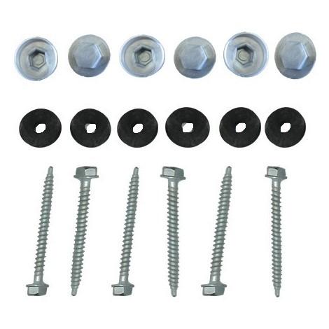 Kit pour profil vissable plaque polycarbonate - Coloris - Aluminium, Epaisseur - 32 mm