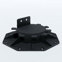 PLOT RÉGLABLE DE 30 À 60 MM POUR TERRASSE BOIS ET COMPOSITE - Coloris - Noir, Surface couverte en m² - 0.09