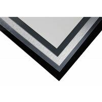 Crédence réversible en aluminium brossé / aluminium brut (disponible en 2 m x 1 m et 1 m x 0.5 m) - Coloris - Aluminum brossé, Epaisseur - 3 mm, Largeur - 50 cm, Longueur - 100 cm