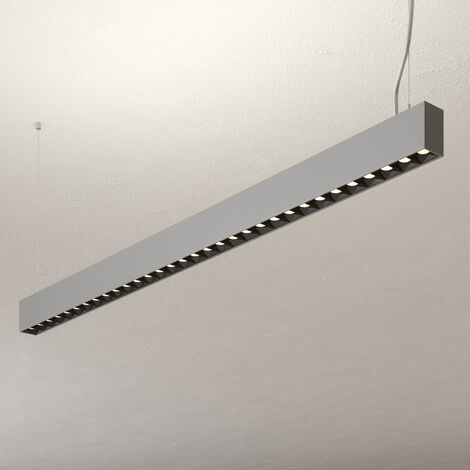 Ceiling Light 'Laris' dimmable in Silver made of Aluminium for e.g. Office & Workroom (A+) from Lampenwelt   Pendant Lighting, Business Lighting
