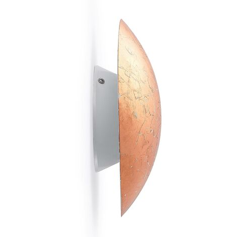 LED Wall Light 'Illuma' (modern) in Copper made of Metal (1 light source, A+) from Lindby | wall lighting, wall lamp