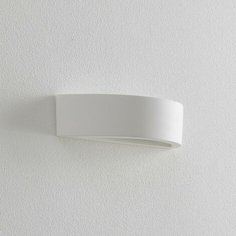 Wall Light 'Konstantin' dimmable (modern) in White made of Plaster/Clay (1 light source, E14, A++) from Lindby   wall lighting, wall lamp