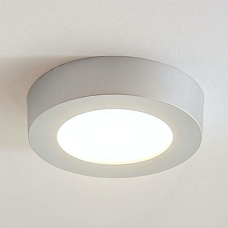 Ceiling Light 'Marlo' (modern) in Silver for e.g. Bathroom (1 light source, A+) from Arcchio | ceiling lamp, lamp