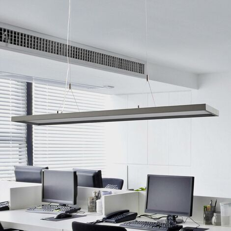 Ceiling Light 'Divia' dimmable (modern) in Silver made of Metal for e.g. Office & Workroom (2 light sources, A+) from Arcchio | Pendant Lighting, Business Lighting