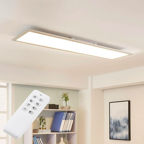 LED Panel 'Lysander' dimmable with remote control in Silver made of Aluminium for e.g. Office & Workroom (1 light source, A+) from Arcchio | Ceiling Light, Business Lighting, office lamp, workspace