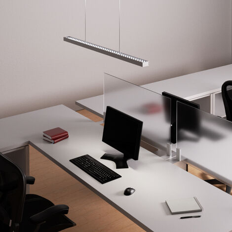 Ceiling Light 'Jolinda' dimmable (modern) in Silver made of Aluminium for e.g. Office & Workroom (A+) from Arcchio | Pendant Lighting, Business Lighting