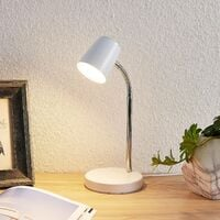 LED Table Lamp 'Jegor' (modern) in White (1 light source,) from Lindby | Desk Lamps