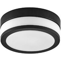 Ceiling Light 'Flavi' dimmable (modern) in Black made of Metal for e.g. Bathroom (2 light sources, E27) from Lindby | ceiling lamp, lamp