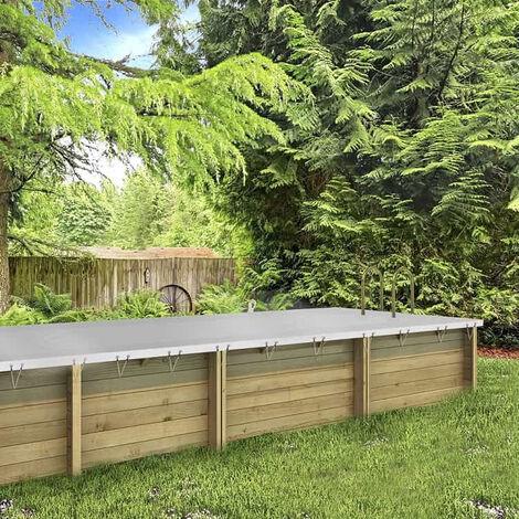 Bâche d'hivernage pour piscine en bois BWT myPOOL - PROCOPI - Pool'n Box et Weva-5 x 2 m