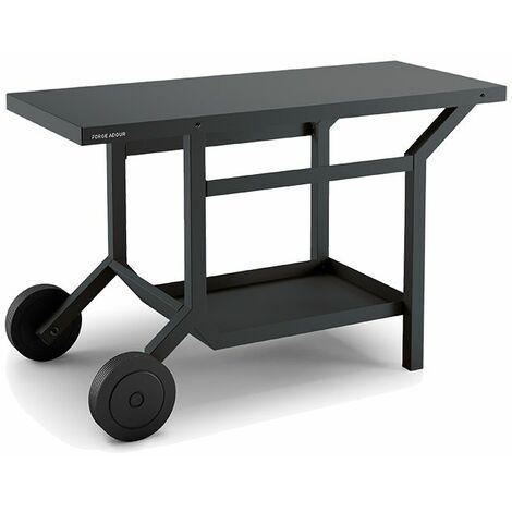 Table roulante en acier pour plancha Forge Adour - Gris anthracite mat - Anthracite