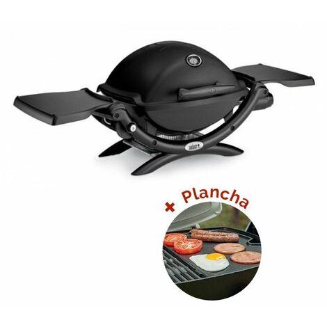 Pack Barbecue à gaz Weber Q 1200 Noir + Plancha Weber