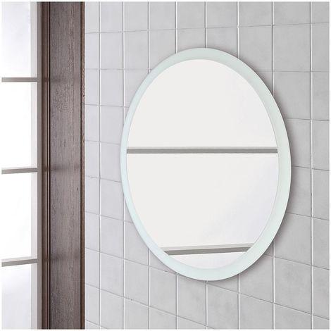 Specchi Tondi Varie Misure.Specchio Tondo Da Bagno Diametro 80 Cm Su Pannello Design Moderno