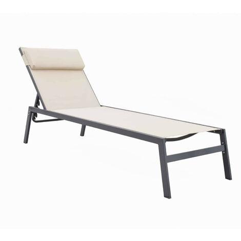 Transat Chillvert Padua Acier/ Textilène 200x61x33 cm