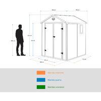 Abri de Jardin en Résine Gardiun Isabella 3,57 m² Ext. 190x188x225 cm Ecru/Marron