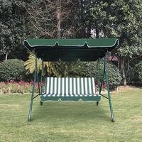 Balancelle de Jardin Chillvert Juliette 2-3 Places Acier Vert 112x170x153 cm