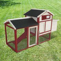 Poulailler de Jardin Gardiun Kansas 62x152x92 cm en Bois Peint et Métal