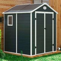 Abri de Jardin en Résine Donna 3,57 m² Extérieur 190x188x225 cm Anthracite/Blanc