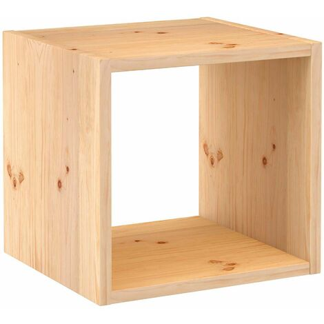 Estantería cubo Dinamic de madera maciza de pino 36,2x36,2x33cm