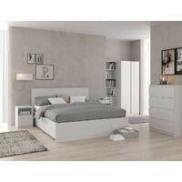Ensemble de 2 tiroirs de lit 100,5x68 cm blanc mat série Helsinki | Blanc