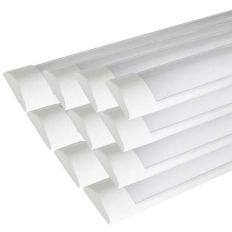 Réglette lumineuse LED 90cm 24W (Pack de 10) - Blanc Froid 6000K - 8000K - SILAMP