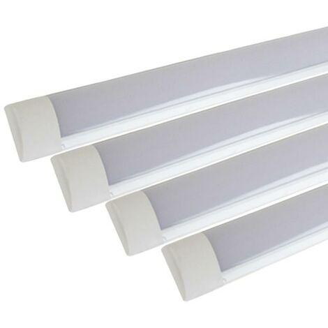 Réglette lumineuse LED 90cm 24W (Pack de 4) - Blanc Froid 6000K - 8000K - SILAMP