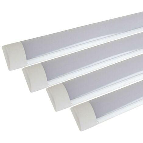 Réglette lumineuse LED 90cm 36W (Pack de 4) - Blanc Froid 6000K - 8000K - SILAMP