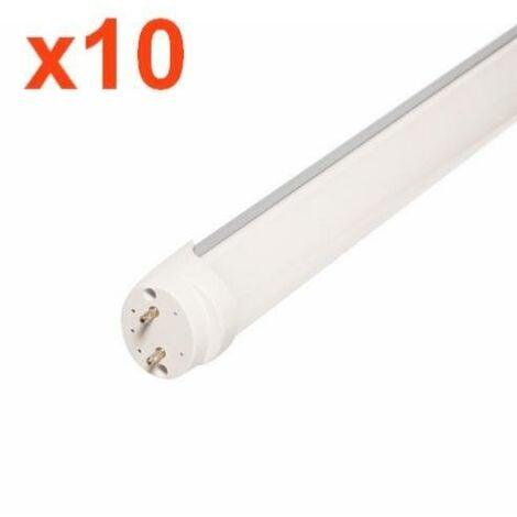 Tube Néon LED 120cm T8 36W (Pack de 10) - Blanc Neutre 4000K - 5500K - SILAMP