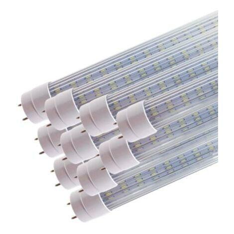 Tube Néon LED 120cm T8 20W (Pack de 10) - Blanc Neutre 4000K - 5500K - SILAMP