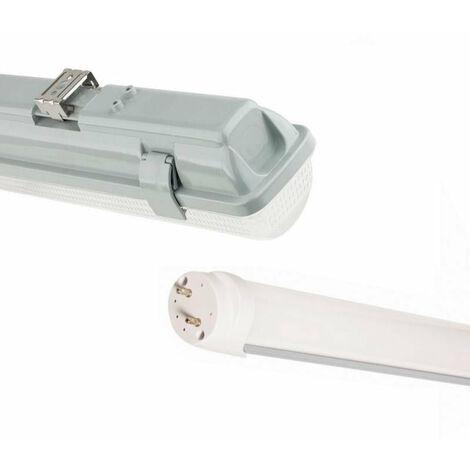 Kit de Réglette LED étanche + Tube Néon lumineuse LED 120cm T8 36W - Blanc Chaud 2300K - 3500K - SILAMP