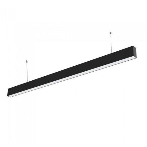 Réglette lumineuse LED 120cmx7cm 36W Suspendue NOIR - Blanc Froid 6000K - 8000K - SILAMP