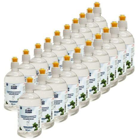 Solution hydroalcoolique 500ml pour les mains et les surfaces (Pack de 20) - SILAMP