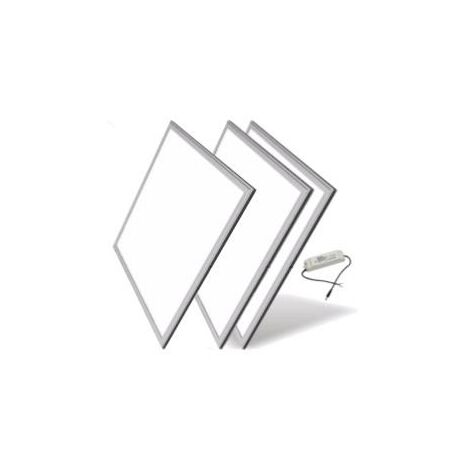 Panneau LED 60x60 Slim 48W ALUMINIUM (Pack de 3) - Blanc Neutre 4000K - 5500K - SILAMP