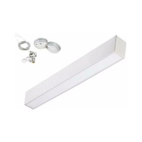 Réglette lumineuse LED 120cm 36W Suspendue ALU - Blanc Froid 6000K - 8000K - SILAMP