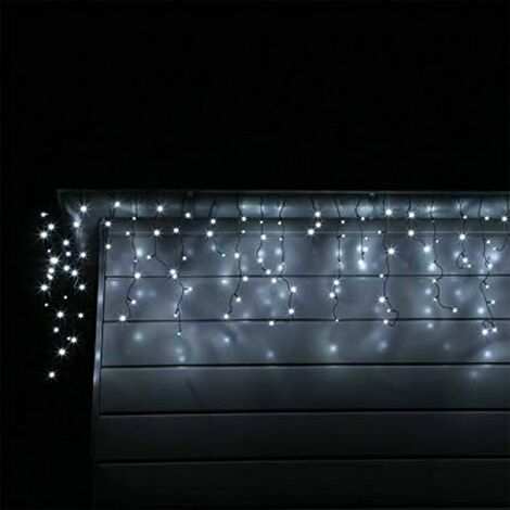 Guirlande LED Rideaux 140LED 220V 3m IP44 8 modes - Blanc Froid - SILAMP