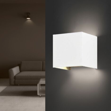 Applique Murale Blanche LED 6W IP54 Carré - Blanc Chaud 2300K - 3500K - SILAMP