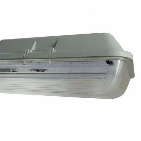Réglette LED étanche Double pour Tubes lumineuse LED T8 150cm IP65 (boitier vide) - SILAMP