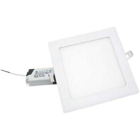 Spot LED Extra Plat Carré 12W Blanc - Blanc Neutre 4000K - 5500K - SILAMP