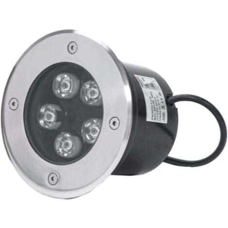 Spot LED Extérieur Encastrable IP65 220V Sol 5W 80° Ø130 - Blanc Froid 6000K - 8000K - SILAMP